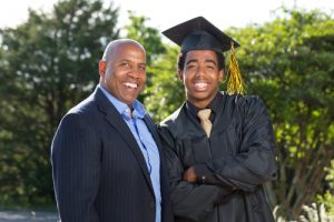 Father and Son on graduation day